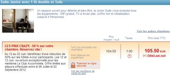 Bon plan hotel pour l 39 ete les prix crazy accor 50 for Bon plan hotel paris