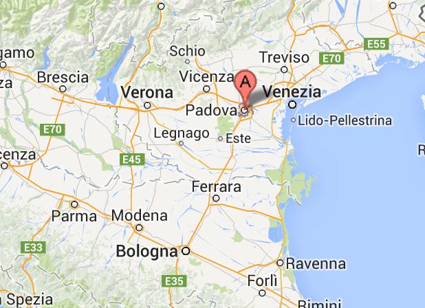 Plan De La Ville De Padoue Italie