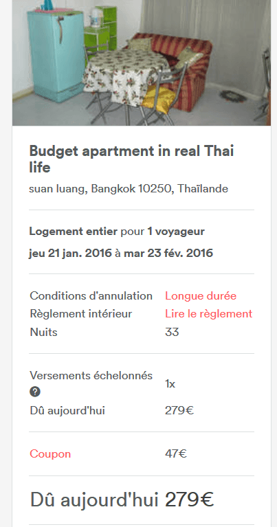 Coupons reduction airbnb actifs